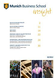 MBS insight 02/2012 - Munich Business School