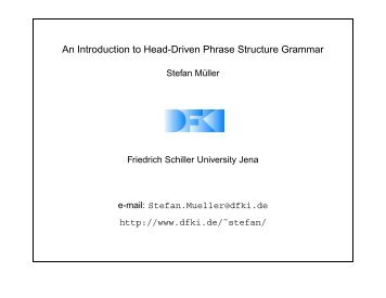 An Introduction to Head-Driven Phrase Structure Grammar - Helsinki.fi