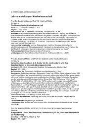 Kommentiertes Vorlesungsverzeichnis MusikWISSENSCHAFT WS ...