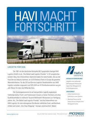 HAVI MACHT FORTSCHRITT - Progress Software