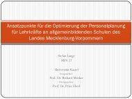 Ansatzpunkte für die Optimierung der ... - Universität Kassel