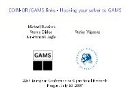 COIN-OR/GAMS links - Hooking your solver to GAMS