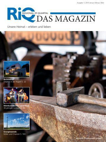 Aktuelle Ausgabe - RiQ DAS MAGAZIN