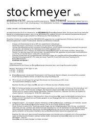 Flyer (PDF) - elektro+licht - Stockmeyer,Telfs