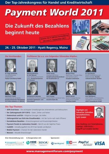Der Top-Jahreskongress Für Handel Und Kreditwirtschaft - Easycash