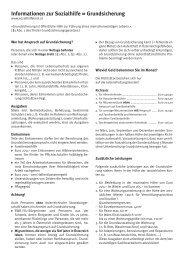 Informationen zur Sozialhilfe = Grundsicherung - Reutte