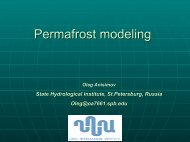 Permafrost modeling - PYRN