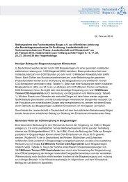 22. Februar 2010 Stellungnahme des Fachverbandes Biogas e.V. ...