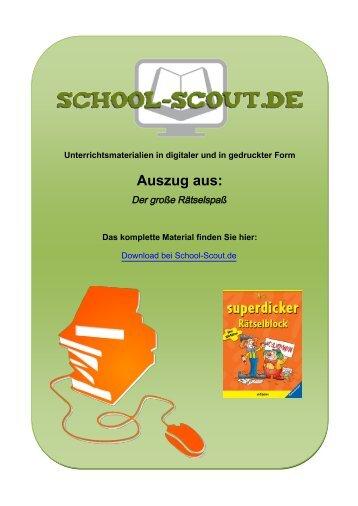 Der große Rätselspaß - School-Scout