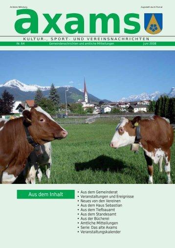 Axamer Zeitung Nr. 64 (3,60 MB) - Gemeinde Axams - Land Tirol