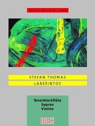 STEFAN THOMAS LABERINTOS Tenorblockflöte Sopran ... - Moeck