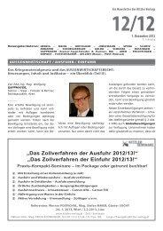 """""""Das Zollverfahren der Ausfuhr 2012/13!"""" """"Das ... - Kitzler Verlag"""