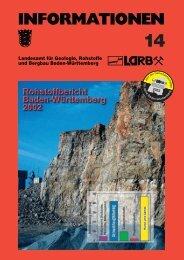 Rohstoffbericht Baden-Württemberg 2002 Gewinnung, Verbrauch