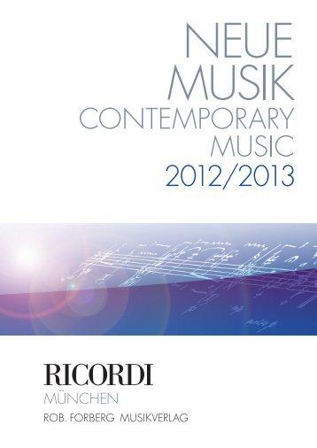 Ricordi Neue Musik 2012/2013 - Krompholz