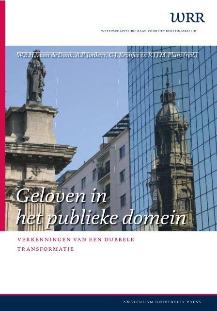 verkenning 13: Geloven in het publieke domein - Wetenschappelijke ...