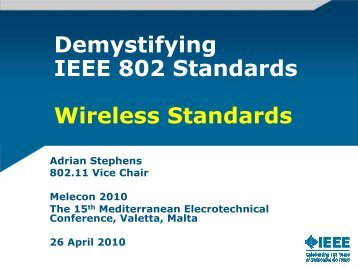 Wireless 802 Standards - Working Group - IEEE