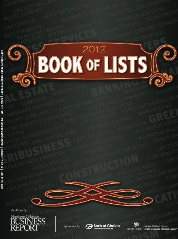 NCBR 2012 Book of Lists | www.NCBR.com - Digital Publishing