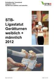 (STB-Ligastatut Geraetturnen 2012 - Schwäbischer Turnerbund