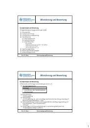 1 Bilanzierung und Bewertung Bilanzierung und Bewertung