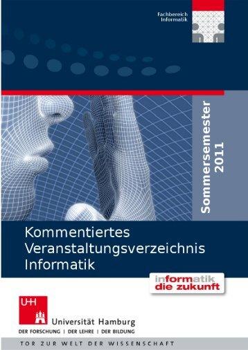 Kommentiertes Veranstaltungsverzeichnis - Fachbereich Informatik ...
