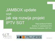 JAMBOX update jak się rozwija projekt IPTV SGT - Proidea