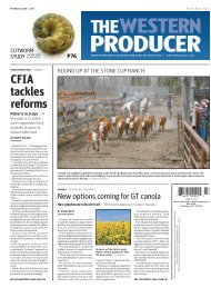 CFIA tackles reforms - The Western Producer