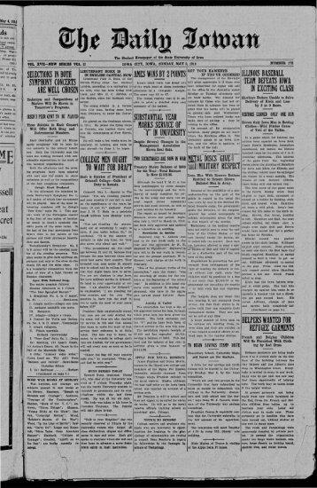 May 5 - The Daily Iowan Historic Newspapers - University of Iowa