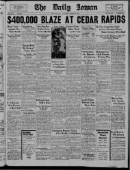 January 31 - The Daily Iowan Historic Newspapers - University of Iowa