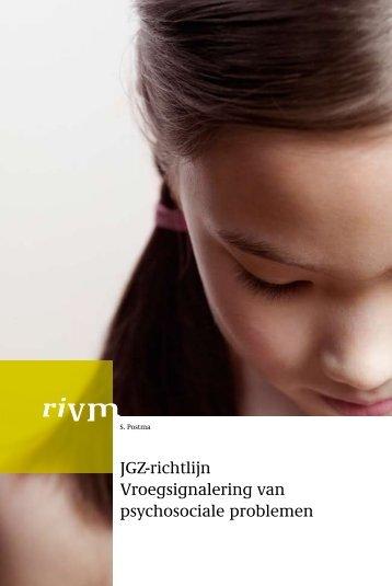 Vroegsignalering van psychosociale problemen - RIVM