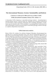 The International Monetary System: Sustainability and Reform ... - EPA