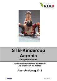 Ausschreibung STB-Kindercup Aerobic - Schwäbischer Turnerbund