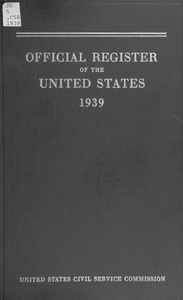 Official Register of the United States 1939 [PDF - U.S. Government ...