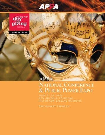 Conference Program - American Public Power Association