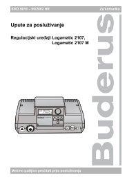 Upute za posluživanje - Buderus