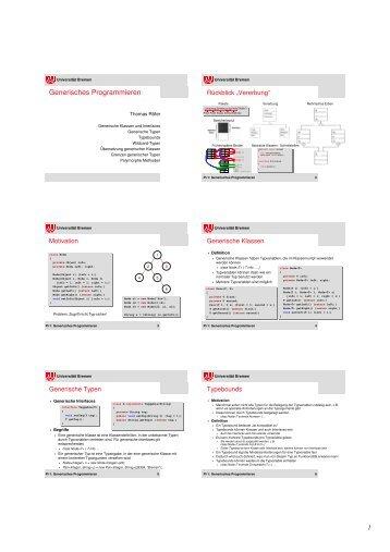 6 Folien/Seite - Informatik - Universität Bremen