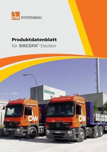 Produktdatenblatt für BresPa®-Decken - DW Systembau GmbH