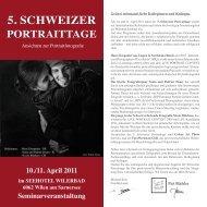 5. schweizer portraittage - FotoWerkstatt M. Belz, W. Kornfeld GbR