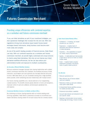 Futures Commission Merchant - State Street Global Markets
