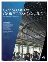 OUR STANDARDS OF BUSINESS CONDUCT - HP