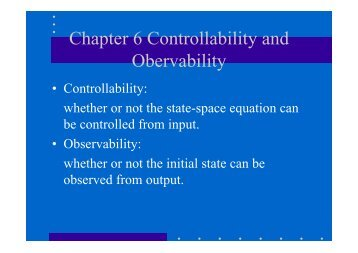 Chapter 6 Controllability and Obervability