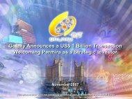 Permira Transaction - Galaxy Entertainment