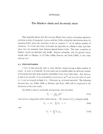 The Markov chain and its steady state - Stanford Exploration Project ...