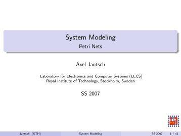 System Modeling - Petri Nets
