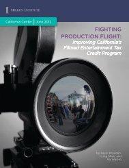 FIGHTING PRODUCTION FLIGHT: - California Film Commission