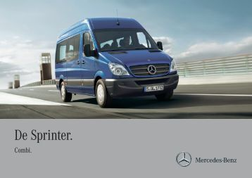 Download de brochure van Sprinter Combi (PDF) - Mercedes-Benz