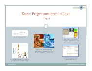 Kurs: Programmieren in Java