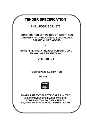Lidar specifications and tender template the intergovernmental tender specification bhel pssr pronofoot35fo Choice Image