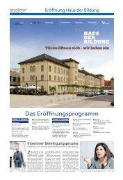 Eröffnung Haus der Bildung - Haller Tagblatt
