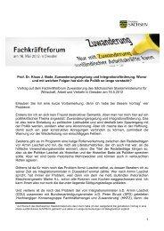 1 Prof. Dr. Klaus J. Bade, Zuwanderungsregelung ... - Fachkräfteforum