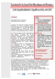 Newsletter Nr. 10, Jugendliche Migrantinnen und Migranten in
